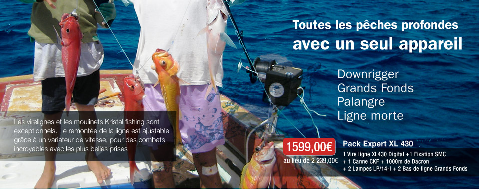 Pack XL 430 Grands fonds Kristal Fishing